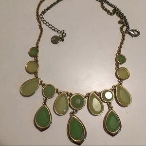 Green Droplet Statement Necklace